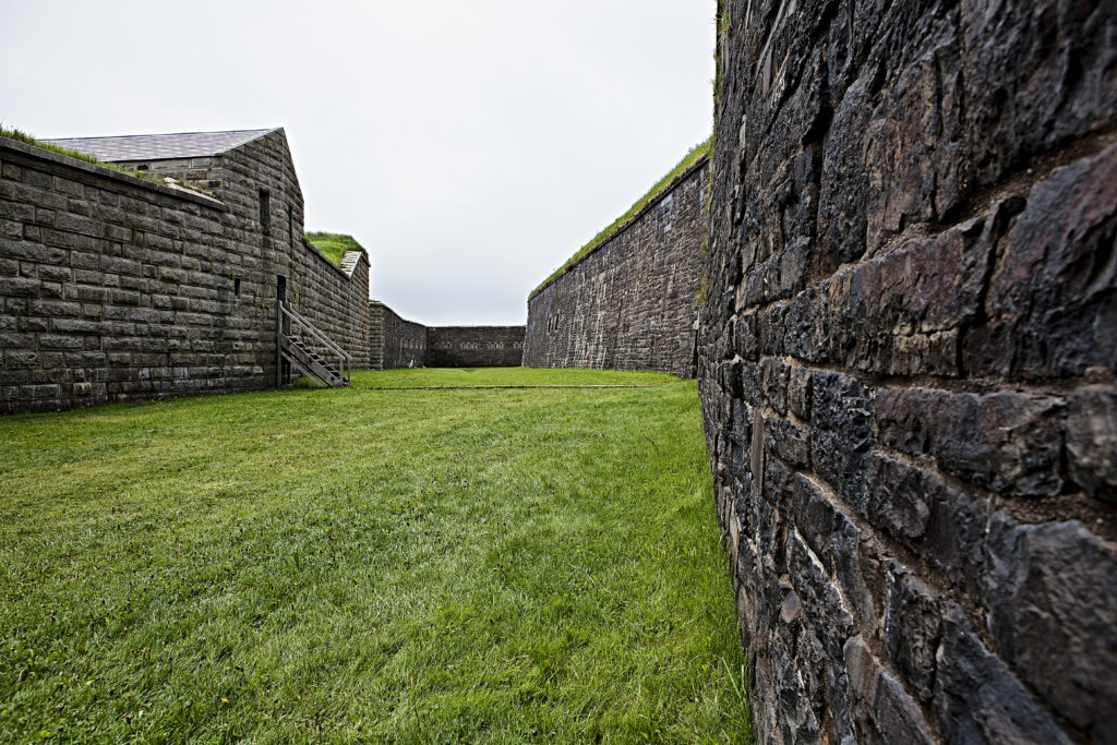 Outer walls of the  Halifax Citadel