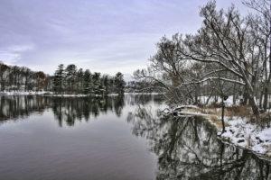 Winter, Île des Moulins, Québec